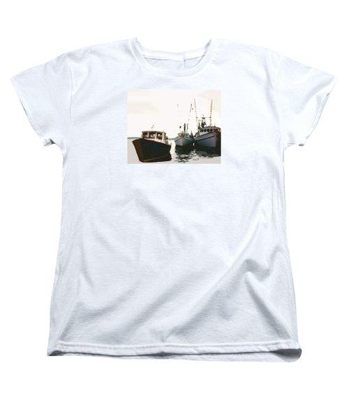 Three Boats Women's T-Shirt (Standard Cut) by Walter Chamberlain