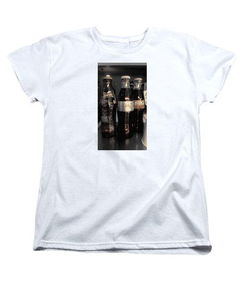 Women's T-Shirt (Standard Cut) featuring the photograph Three Bottles Full by Saad Hasnain