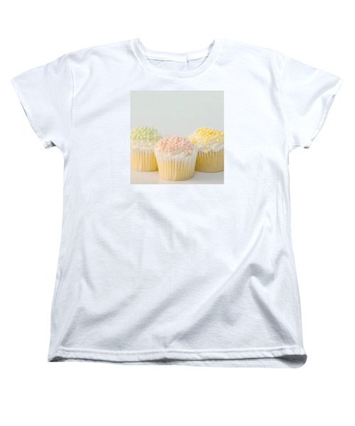 Three Cupcakes Women's T-Shirt (Standard Cut) by Art Block Collections