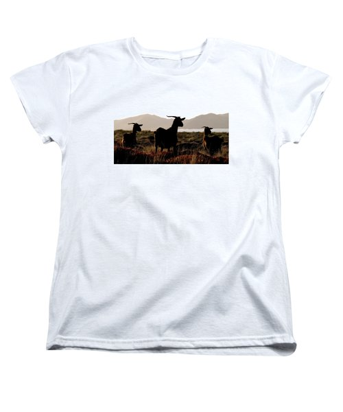 Women's T-Shirt (Standard Cut) featuring the photograph Three Goats by Pedro Cardona