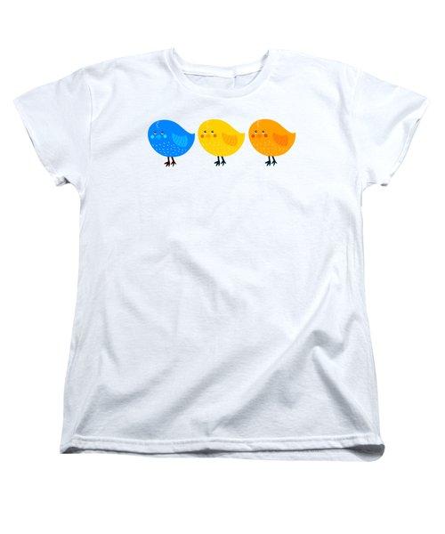 Women's T-Shirt (Standard Cut) featuring the digital art Three Little Birds Tee by Edward Fielding