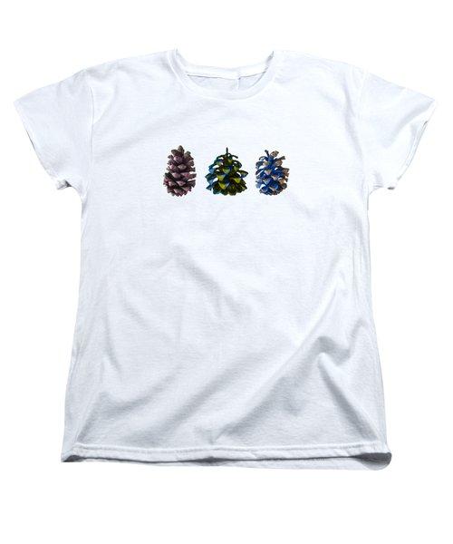 Three Pine Cones Women's T-Shirt (Standard Cut) by Stan  Magnan