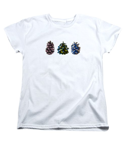 Three Pine Cones Women's T-Shirt (Standard Cut)