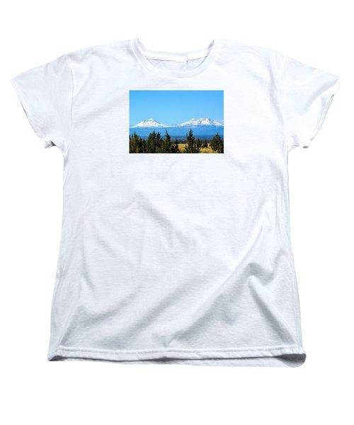 Three Sisters In The Fall Women's T-Shirt (Standard Cut) by Linda Larson