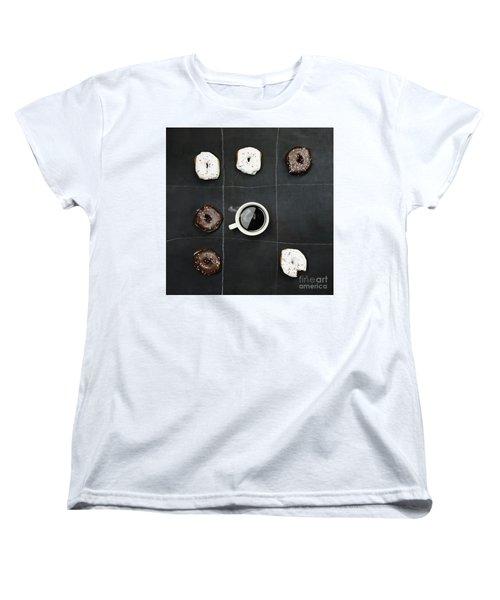 Tic Tac Toe Donuts And Coffee Women's T-Shirt (Standard Cut)