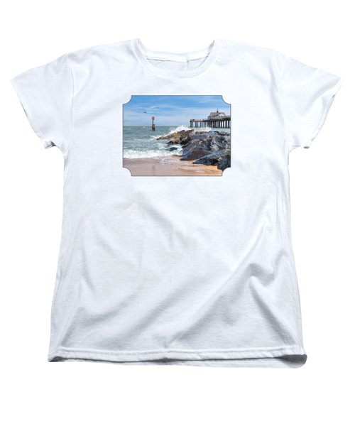 Tide's Turning - Southwold Pier Women's T-Shirt (Standard Cut) by Gill Billington
