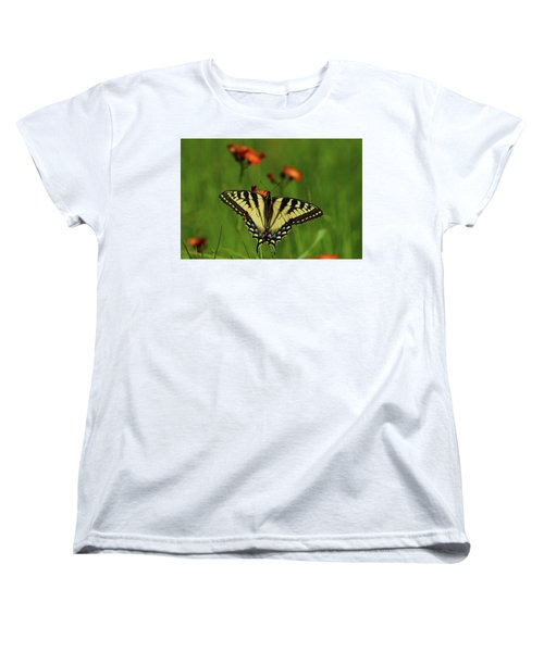 Tiger Swallowtail Butterfly Women's T-Shirt (Standard Cut) by Nancy Landry