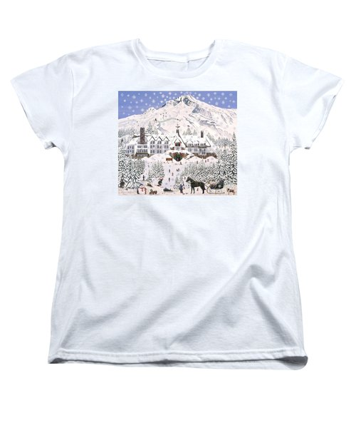 Timberline Lodge Women's T-Shirt (Standard Cut) by Jennifer Lake