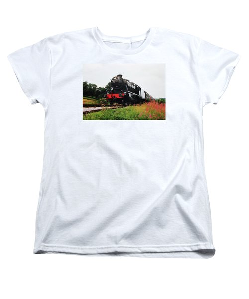 Women's T-Shirt (Standard Cut) featuring the photograph Time Travel By Steam by Martin Howard
