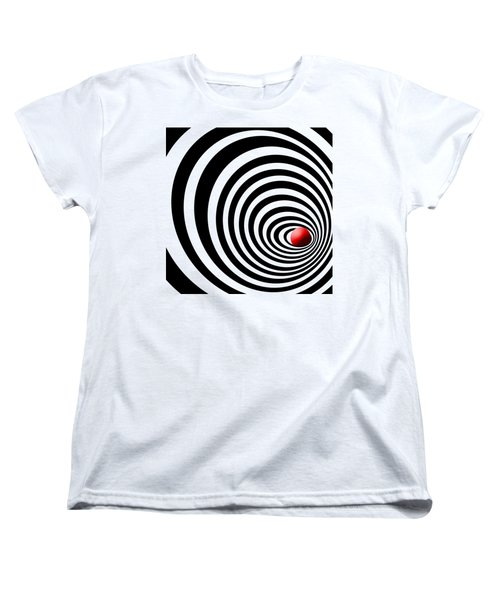 Time Tunnel Op Art Women's T-Shirt (Standard Cut) by Methune Hively