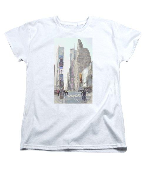 Times Square Street Scene Women's T-Shirt (Standard Cut) by Dyle Warren
