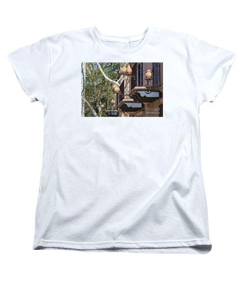 Women's T-Shirt (Standard Cut) featuring the photograph Tlaquepaque Balconies by Chris Dutton
