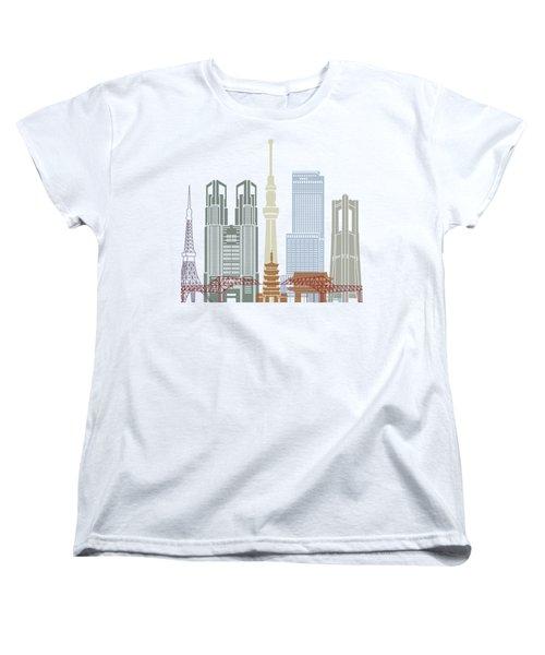 Tokyo V2 Skyline Poster Women's T-Shirt (Standard Cut)