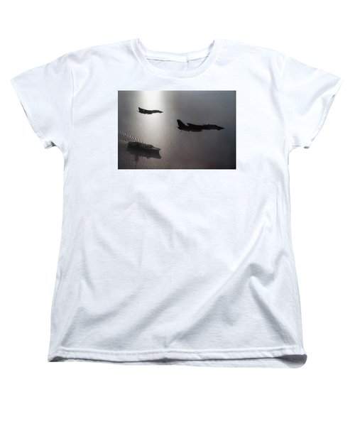 Women's T-Shirt (Standard Cut) featuring the photograph Tomcat Silhouette  by Peter Chilelli