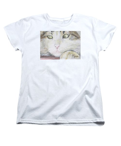 Women's T-Shirt (Standard Cut) featuring the painting Tommy by Mary-Lee Sanders