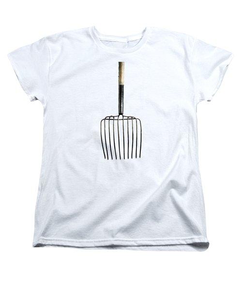 Tools On Wood 25 On Bw Women's T-Shirt (Standard Cut) by YoPedro