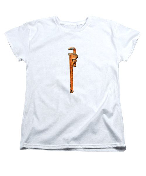 Tools On Wood 60 On Bw Women's T-Shirt (Standard Cut) by YoPedro