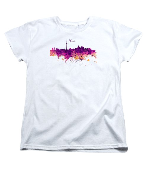 Toronto Watercolor Skyline Women's T-Shirt (Standard Fit)