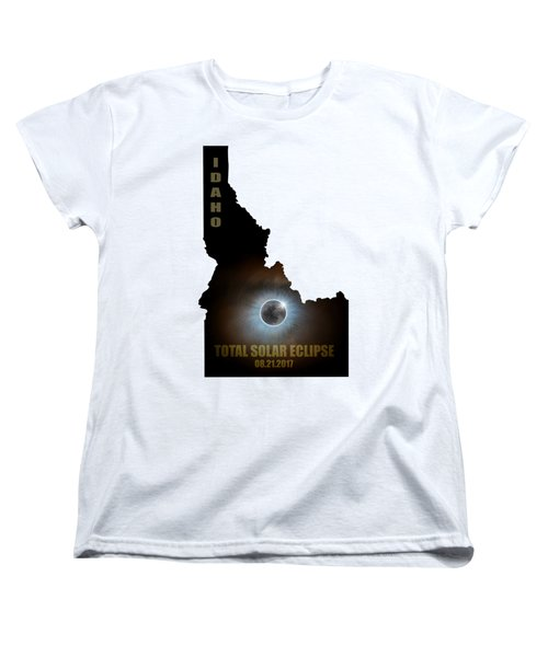 Total Solar Eclipse In Idaho Map Outline Women's T-Shirt (Standard Fit)