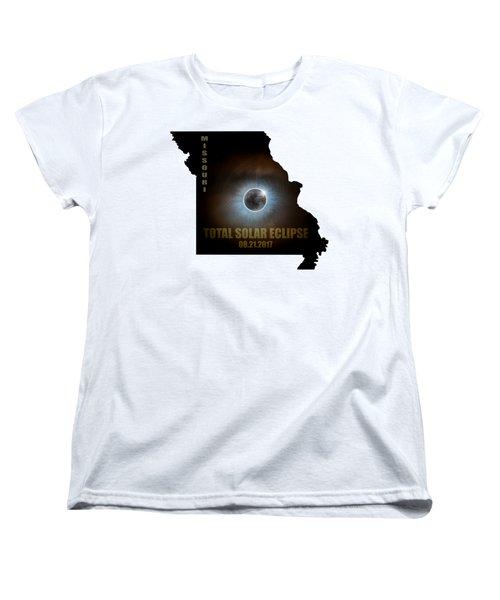 Total Solar Eclipse In Missouri Map Outline Women's T-Shirt (Standard Fit)