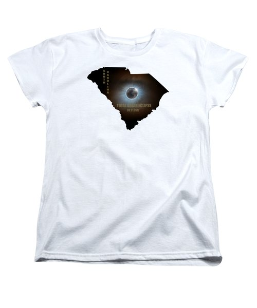 Total Solar Eclipse In South Carolina Map Outline Women's T-Shirt (Standard Fit)
