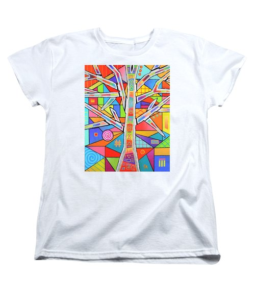 Totem Tree Women's T-Shirt (Standard Cut) by Jeremy Aiyadurai