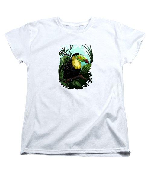 Toucan Women's T-Shirt (Standard Cut) by Adam Santana