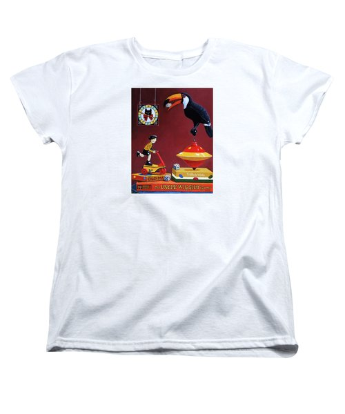 Women's T-Shirt (Standard Cut) featuring the painting Toucan Play At This Game by Linda Apple