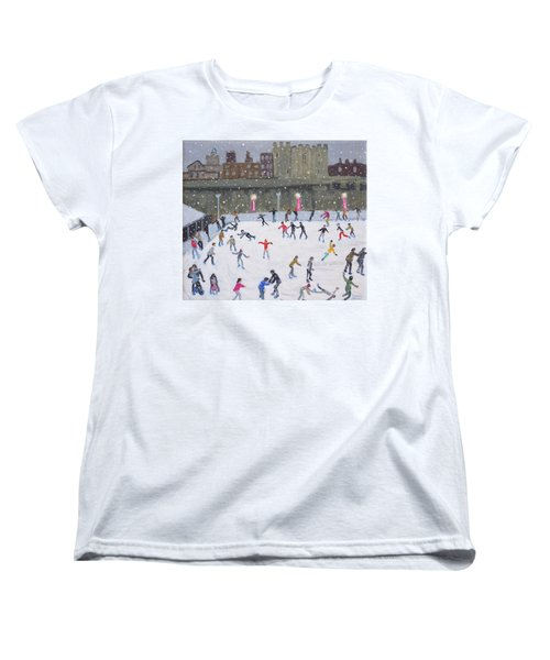 Tower Of London Ice Rink Women's T-Shirt (Standard Cut) by Andrew Macara