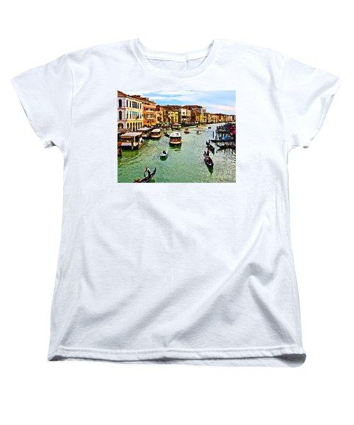 Traghetto, Vaporetto, Gondola  Women's T-Shirt (Standard Cut) by Tom Cameron