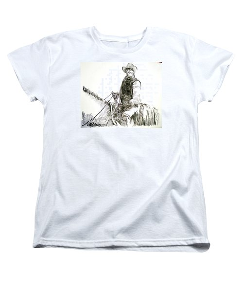 Women's T-Shirt (Standard Cut) featuring the drawing Trail Boss by Seth Weaver
