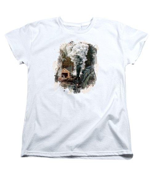Train Days Women's T-Shirt (Standard Cut) by Florentina Maria Popescu