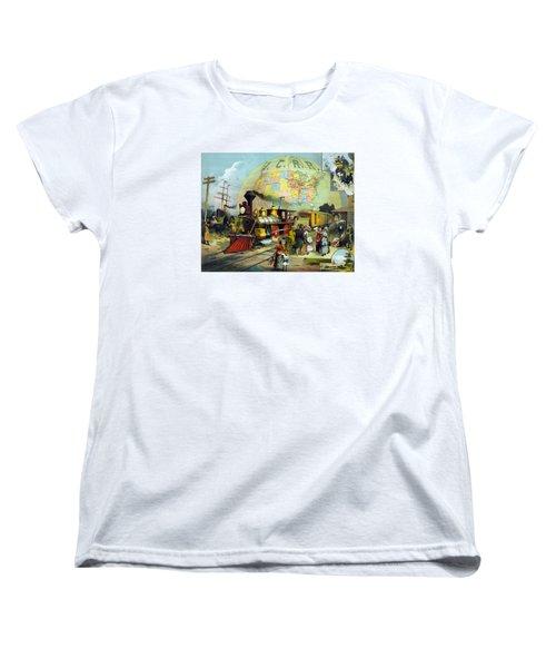Transcontinental Railroad Women's T-Shirt (Standard Cut) by War Is Hell Store
