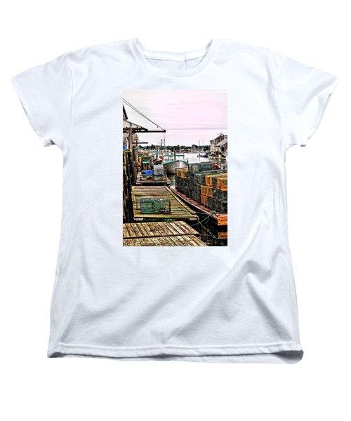 Traps Portland Maine Women's T-Shirt (Standard Cut) by Tom Prendergast