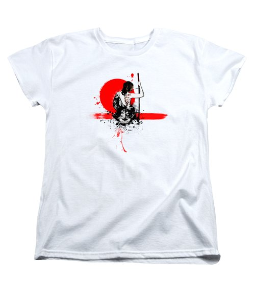 Women's T-Shirt (Standard Cut) featuring the digital art Trash Polka - Female Samurai by Nicklas Gustafsson