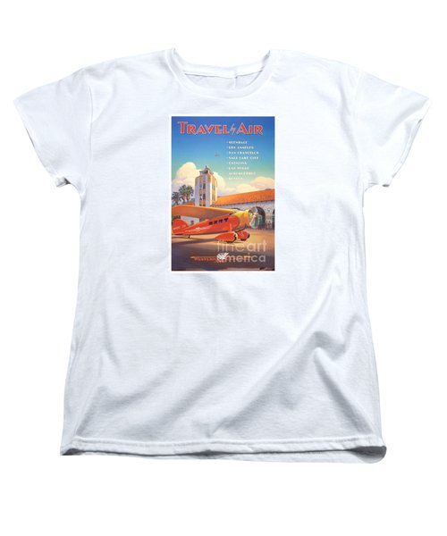 Travel By Air Women's T-Shirt (Standard Cut) by Nostalgic Prints