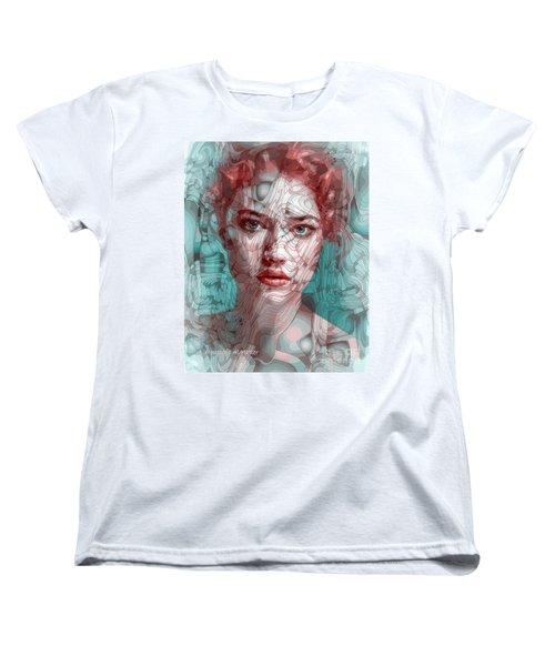 Travelling Wave Women's T-Shirt (Standard Cut) by Moustafa Al Hatter