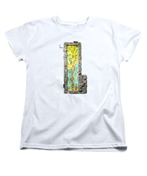 Tree And Stump Inside A Window Women's T-Shirt (Standard Cut)