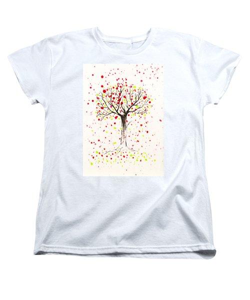 Tree Explosion Women's T-Shirt (Standard Cut) by Stefanie Forck