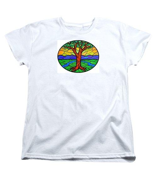 Tree Of Grace - Summer Women's T-Shirt (Standard Cut) by Jim Harris