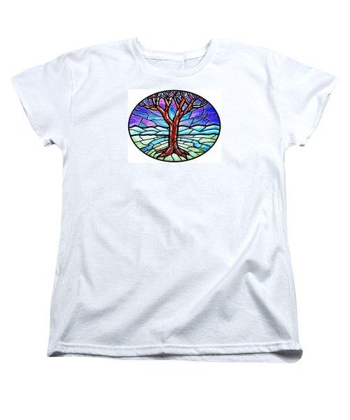Tree Of Grace - Winter Women's T-Shirt (Standard Cut) by Jim Harris