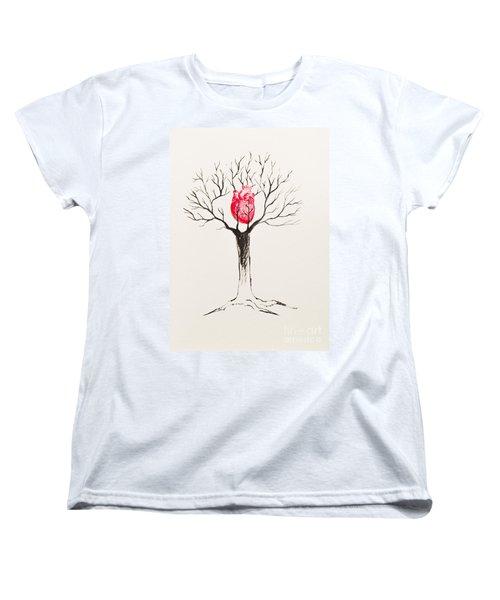 Tree Of Hearts Women's T-Shirt (Standard Cut) by Stefanie Forck
