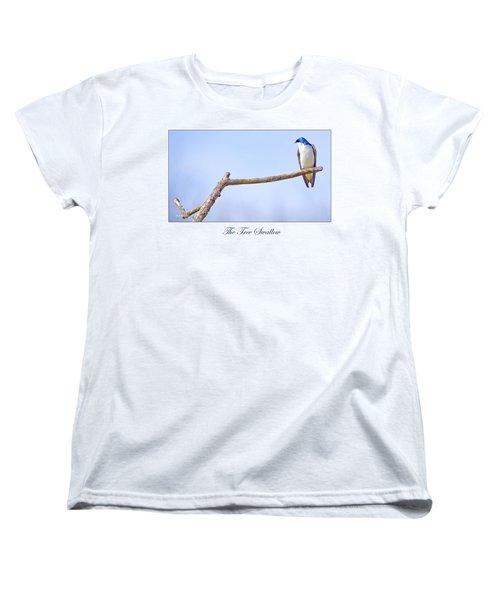 Tree Swallow On Branch Women's T-Shirt (Standard Cut) by A Gurmankin