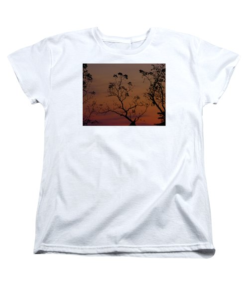 Tree Top After Sunset Women's T-Shirt (Standard Cut) by Donald C Morgan