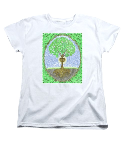 Tree With Heart And Sun Women's T-Shirt (Standard Cut) by Lise Winne