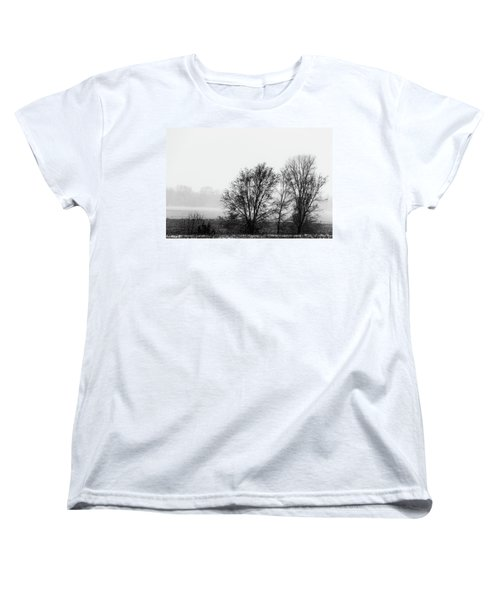Trees In The Mist Women's T-Shirt (Standard Cut) by Jay Stockhaus