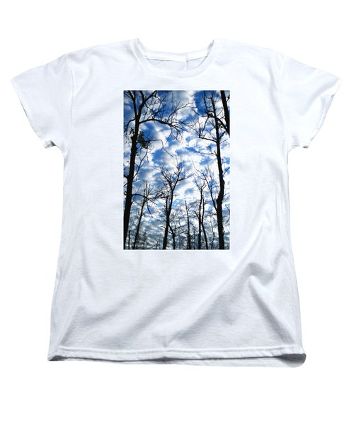 Women's T-Shirt (Standard Cut) featuring the photograph Trees In The Sky by Shari Jardina