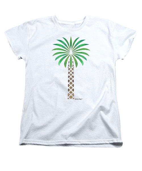 Tribal Canary Date Palm Women's T-Shirt (Standard Cut) by Heather Schaefer