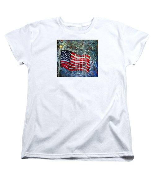 Women's T-Shirt (Standard Cut) featuring the mixed media Tribute by J R Seymour