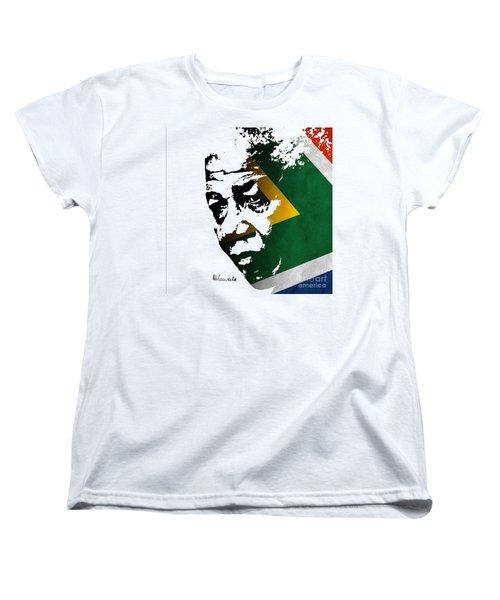tribute to Nelson Mandela Women's T-Shirt (Standard Cut) by Rudi Prott
